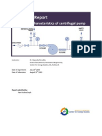 Lab Report Performance Characteristics of Centrifugal Pump