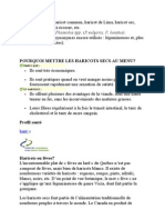 LES BIENFAITS DE L'HARICOT