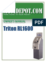 Triton RL1600 ATM Owners Manual