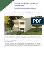 Plano Casa Económica de 106 m2 de Dos Plantas y 3 Dormitorios