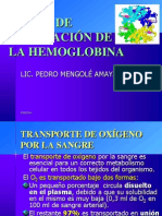 Hemoglobina Curva de Disociacion