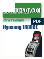 Hyosung 1800CE ATM Machine Owners Manual