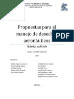Propuestas para el Reciclaje de Aviones