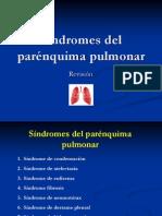 Síndromes del parénquima pulmonar