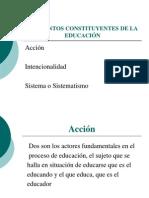 ELEMENTOS CONSTITUYENTES DE LA EDUCACIÓN