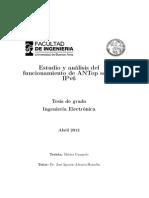 Estudio y anáis del funcionamiento de ANTop sobre IPv6
