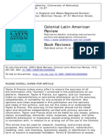 Constructing the Criollo Archive (Reviewed Francisco Javier Cevallos)