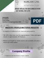 presentation on wealth maximisation in kurl on