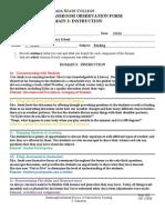 EDRL 461-Domain 3 Classroom Observation Form 4-25-14