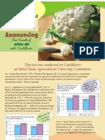 Test Results of Apsa on Cauliflower