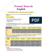 The Present Tense in English