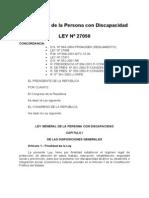 53) Ley 27050 Ley Gral Persona Con Discapacidad