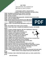 101 tips for pe teachers