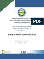 Diseño de Módulo de Programa Alfin