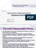 t 09 Information Representation Chars and Images