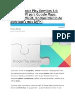 Nuevo Google Play Services 4