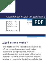 Aplicaciones de Las Matrices.iruneRivero