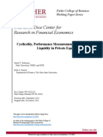 Cyclicality, Performance Measurement, And Cash Flow Liquidity in Private Equity
