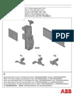 ABB Circuit Breaker AUX-E MOE Trip Unit Instruction