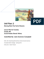 EDEL453 Spring2014 JanisGommeCampbell Unit Plan Tuesday