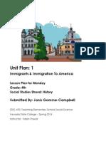 EDEL453 Spring2014 JanisGommeCampbell Unit Plan Monday