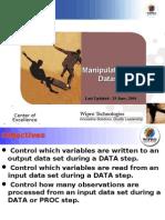 SAS Manipulate Datasets