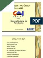 La Acreditación en Panamá