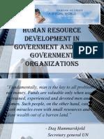 HRD in Govt. & NGO