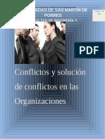 Psicologia Industrial - Conflictos en Las Organizaciones