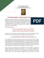 Sri Rama Navami Significance of Rama Nama