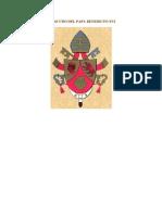 Escudo Del Papa Benedicto Xvi!!