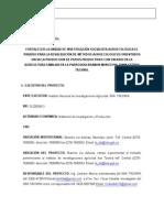 PROYECTO AGROECOLOGICO FORMATO
