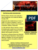 Afiche Pastor Alvaro Sanchez