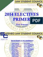 Electives Primer Sem1 2014