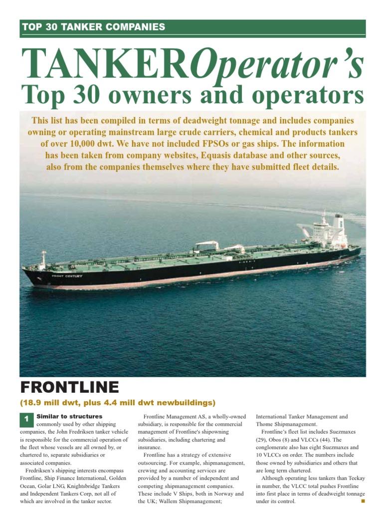 Tanker Operators Review | Oil Tanker | Ship Types