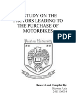17107927 a Study on the Factors Leading to the Purchase of Motorbikes