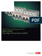Technical Catalogue of ABB make MCBs