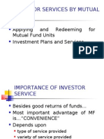 Investor Services by Mutual Funds
