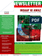 "IPF Newsletter ""Insaf Ki Awaz"""