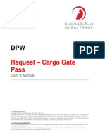 Request Cargo Gate Pass