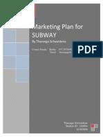 SUBWAY - Marketing Plan