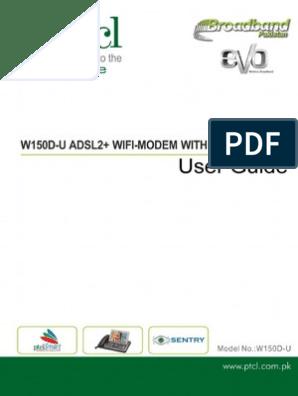Ptcl Dsl Modem Setting To set up a distorted modem | Ip
