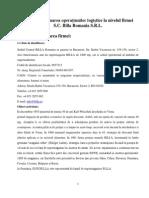 139050337 Analiza Si Evaluarea Operatiunilor Logistice Ale Firmei S C Billa Romania SRL