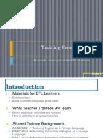Training - Materials Development for EFL
