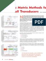 Acoustic Matrix Methods