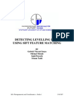 Detecting Levelling Rods Using SIFT Feature Matching