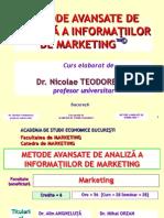 Master Cercetari de Marketing Kit Tehnic Metode Avansate 2014
