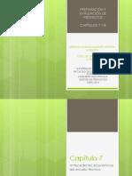 Preparacion y evaluacion de proyectos Capítulo 7 y 8