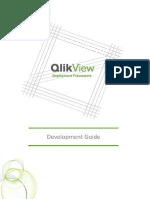 QlikView Deployment Framework-Development Guide | Version Control