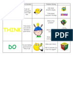 behavior rubric print